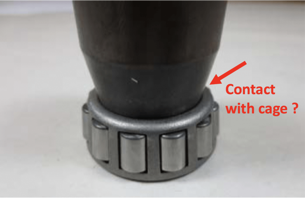 Tapered Wheel Bearing Cage Spacer Fit