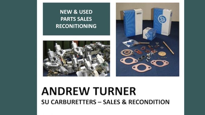 ANDREW TURNER SU CARBS on SCOTTYS Supplier Library