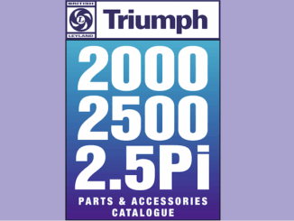 TRIUMPH 2000 2500 2.5Pi PARTS GUIDE | RIMMER on SCOTTYS Pic1