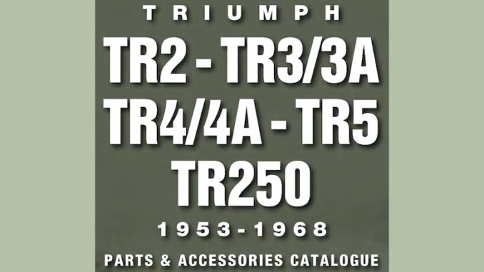 TRIUMPH TR2 3 4 5 250 PARTS GUIDE - RIMMER on SCOTTYS Supplier Library PIC1