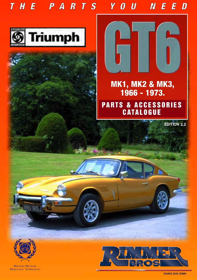 TRIUMPH TR6 PARTS GUIDE | RIMMER on SCOTTYS Supplier LIbrary