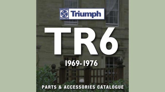 TRIUMPH TR6 PARTS GUIDE RIMMER on SCOTTYS Supplier Library PIC1