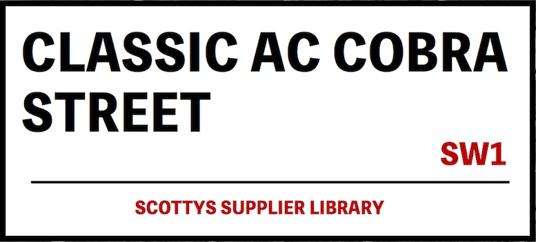 CLASSIC AC COBRA PARTS SUPPLIERS in SCOTTYS Supplier Library