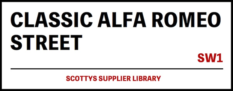 CLASSIC ALFA ROMEO PARTS SUPPLIERS in SCOTTYS Supplier Library