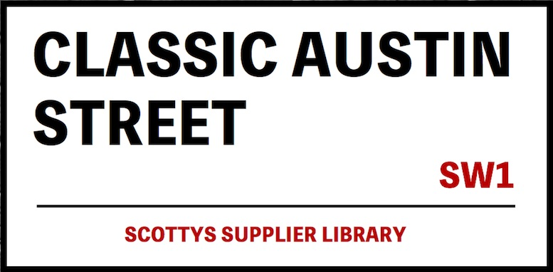 CLASSIC AUSTIN PARTS SUPPLIERS in SCOTTYS Supplier Library