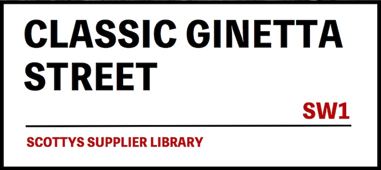 CLASSIC GINETTA CAR PARTS SUPPLIERS