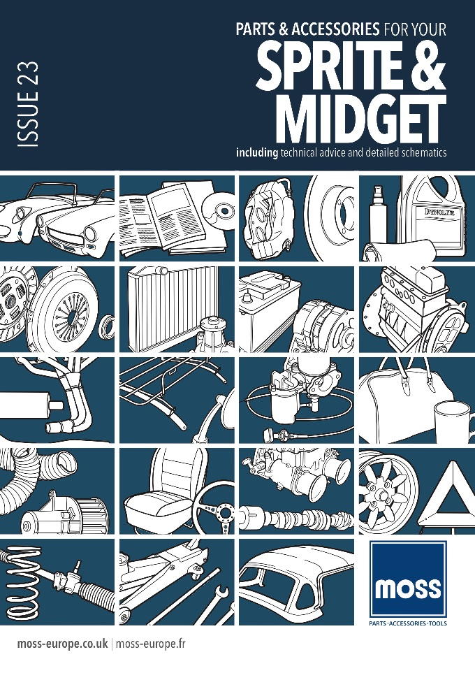 MG MIDGET PARTS CATALOGUE - MOSS on SCOTTYS Supplier Library