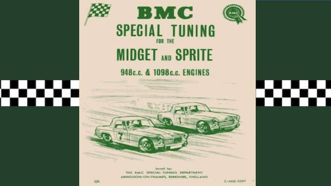 BMC Special Tuning MIDGET and SPRITE 948cc 1098cc ENGINES C- AKD5097