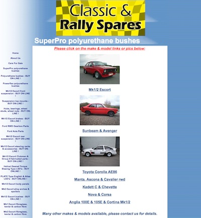 CLASSIC AND RALLY SPARES WEBSITE