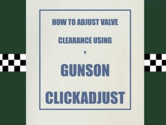 HOW TO ADJUST VALVE CLEARANCE USING A GUNSON CLICK ADJUST