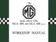 MG MGA WORKSHOP MANUAL AKD600D