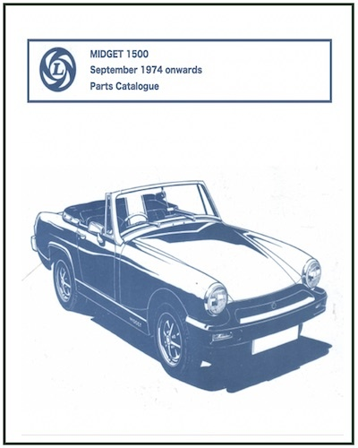 MG MIDGET 1500 PARTS CATALOGUE AKM 1153 PDF
