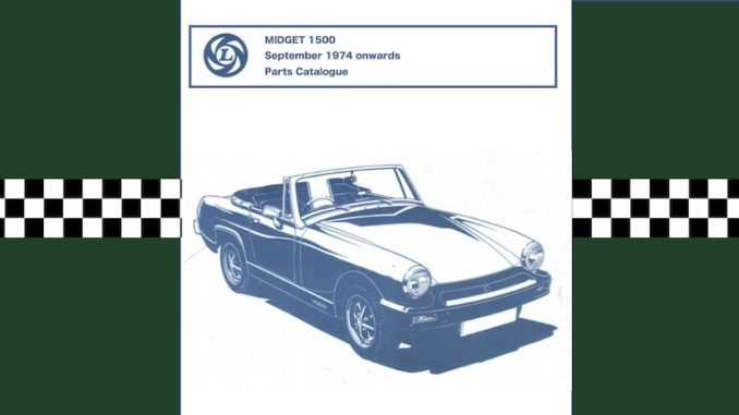 MG MIDGET 1500 PARTS CATALOGUE PDF