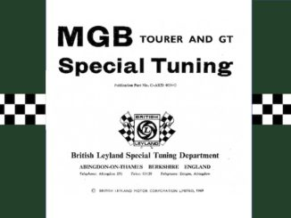 MGB SPECIAL TUNING MANUAL