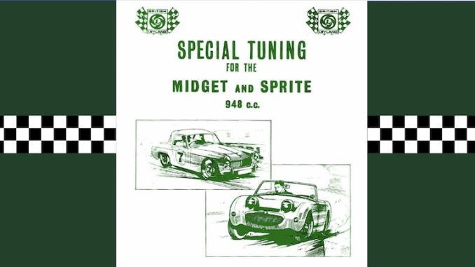 MIDGET SPRITE SPECIAL TUNING MANUAL ( 948CC ENGINES ) Ref- C AKD1021C
