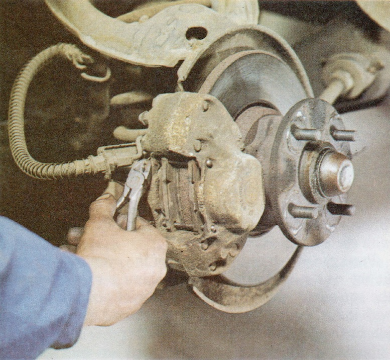 Changing Brake Pads on a Classic Ford Step 2