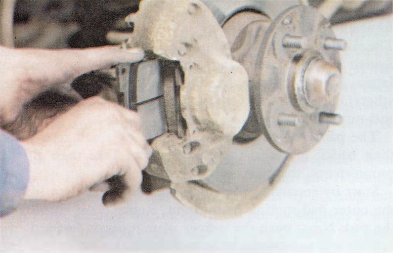 Changing Brake Pads on a Classic Ford Step 8