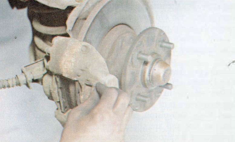 Changing Brake Pads on a Classic Ford Step 9