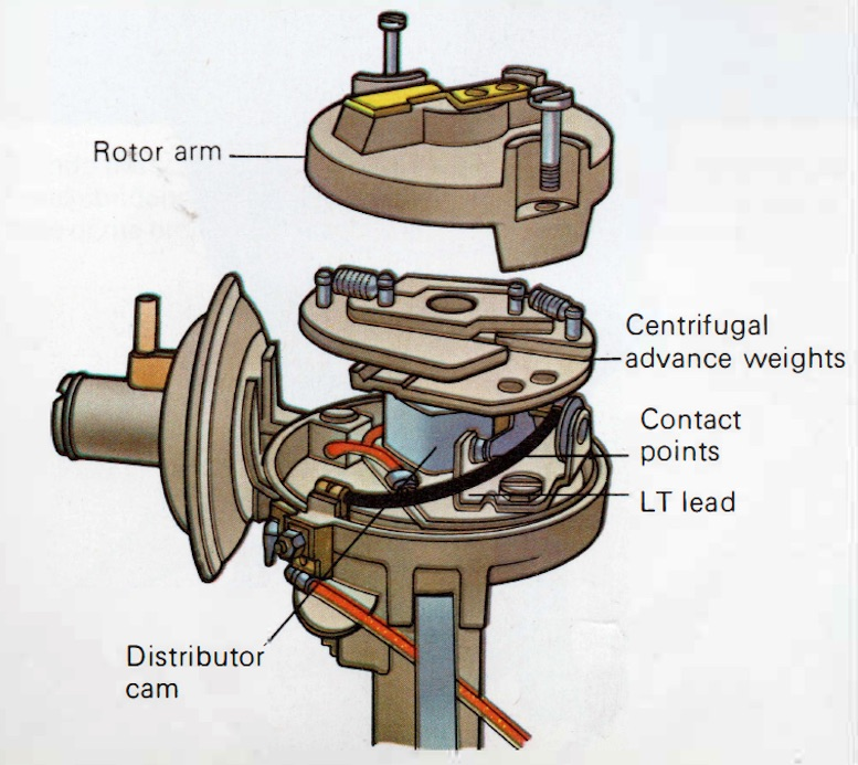 Diagram of a Marelli Distributor
