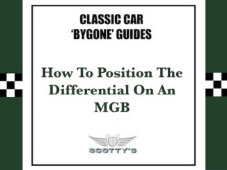 How to position the differential pinion on an MGB