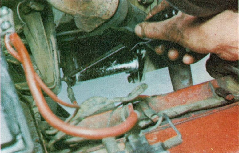 Removing A Starter Motor On A Classic Car