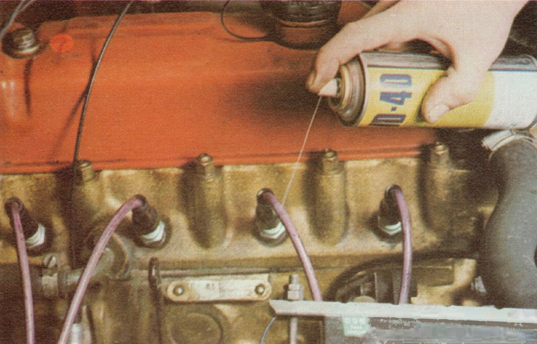 lf the insulation of the HT leads is faulty, you can fill the gaps temporarily by spraying the leads with a fluid like WD 40