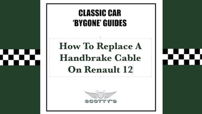 How To Replace An Equaliser Handbrake