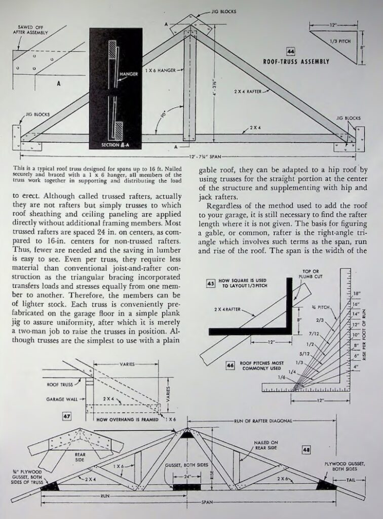 How To Build A Garage Roof Truss Example Page