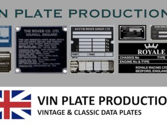 VIN PLATE PRODUCTIONS